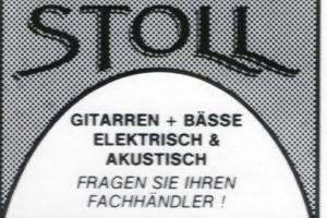 """1987 Anzeige: Im Einsatz zeigt sich schnell das Manko dieses Entwurfs: Der Aufwärtsstrich des """"T"""" stört. Es unterbricht den Bogen, der durch die Unterlängen von """"S"""" und """"L"""" entsteht."""