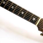 Griffbretteinlagen Inlay sterne perlmutt Ambition Fingerstyle gitarrenbauerchristian stoll