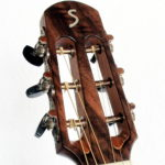 Gitarrenbau Christian Stoll: Parlour mit Mensur 62 Korpus amerikanische Walnuss - Kopfplatte passend