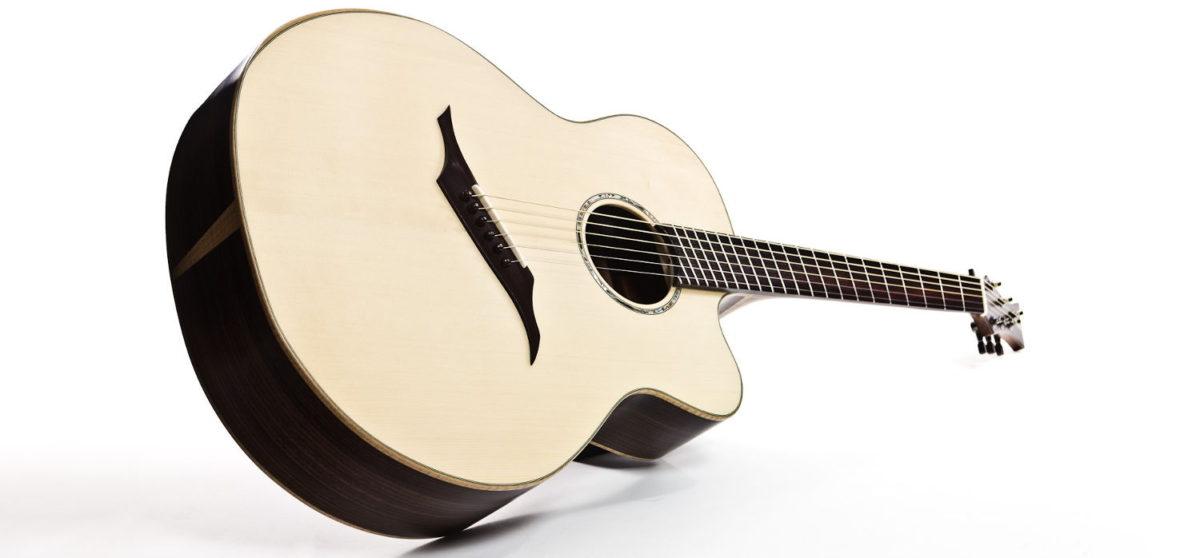 stahlsaiten western steel string gitarre IQ Bevel fanned frets