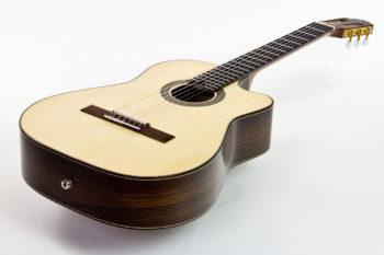 Crossover Akustik Gitarre mit Cutaway Palisander Fichte