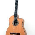 Crossover Akustik Gitarre mit Cutaway indische Walnuss Zeder